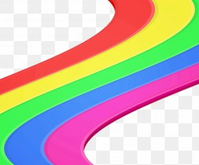 Rainbow Road - Rainbow Shapes Stock Photography PNG