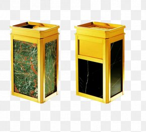 2 Gold Stainless Steel Trash Can - Waste Container Stainless Steel Hotel PNG