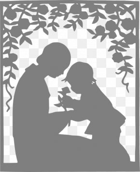 Loving Parents Cliparts - Mother Child Silhouette Clip Art PNG