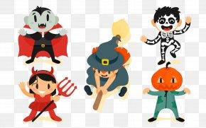 Vector Halloween Elements - Halloween Euclidean Vector Clip Art PNG
