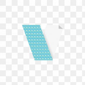 Gray Blue CD Letter V - Turquoise Angle Pattern PNG