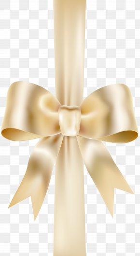 Bow With Ribbon Transparent Clip Art Image - Ribbon PNG