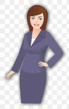 Businessperson Black Hair - Clothing Standing Purple Dress Formal Wear PNG
