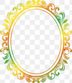 European Wind Corner - Picture Frame Oval Clip Art PNG