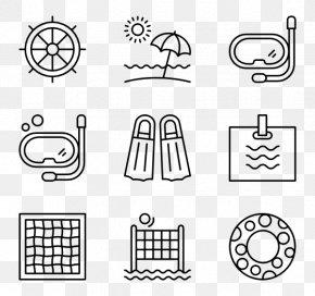 Aquatic Locomotion - Icon Design Infographic Clip Art PNG