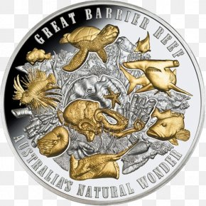 Great Barrier Reef Australia - Great Barrier Reef Niue Coin Coral Reef Silver PNG
