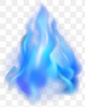 Blue Simple Flame Effect Element - Flame Blue Heat PNG