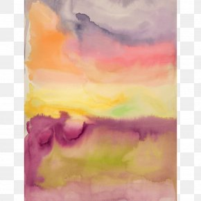 Canvas Print - Watercolor Painting Modern Art Still Life Acrylic Paint PNG