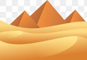 Desert Pyramid - Desert Euclidean Vector Vecteur PNG