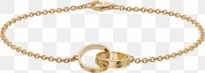 Chain - Love Bracelet Cartier Chain Colored Gold PNG