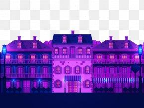 Purple House - Facade Graphic Design Illustration PNG