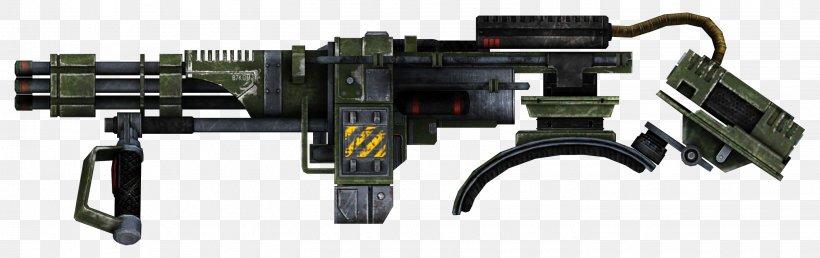 Fallout: New Vegas Fallout 4 Machine Gun Weapon Firearm, PNG, 2850x900px, 10mm Auto, Fallout New Vegas, Auto Part, Chain Gun, Fallout Download Free