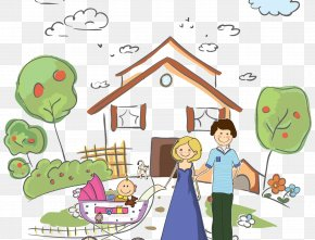 Family Cartoon - Father Family Cartoon Child Care PNG