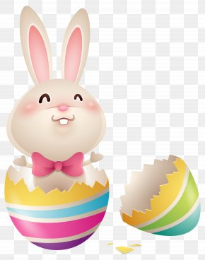 Easter Bunny In Egg Clipart Image - Easter Bunny Easter Egg Rabbit PNG