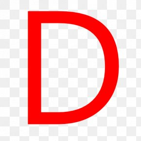 Letter D - Red Font Area Icon Pattern PNG