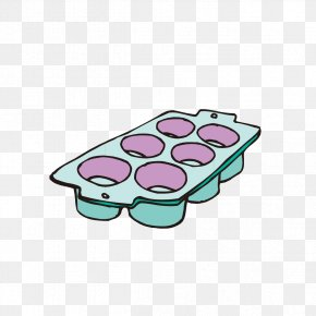 Hand-painted Eggs Put Graphics - Muffin Tin Cupcake Icing Clip Art PNG