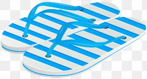 Beach Flip Flops Transparent Image - Flip-flops Slipper PNG