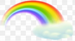 Rainbow Cloud Transparent Clip Art Image - Rainbow Sky Orange Design Wallpaper PNG