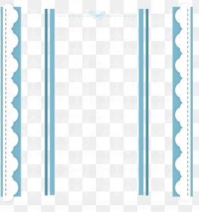 Blue Cartoon Border - Structure Pattern PNG