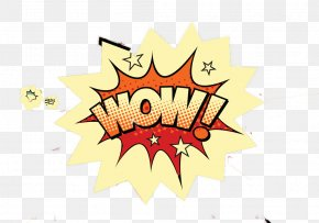 Wow! Explosion Icon - Comics Cartoon Speech Balloon Comic Book PNG