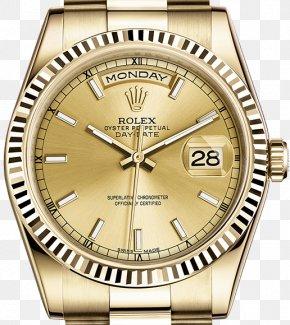Rolex - Rolex Datejust Rolex Day-Date Colored Gold Watch PNG