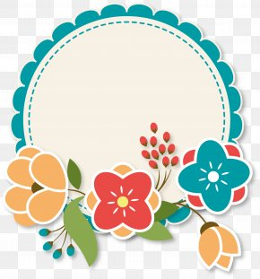 Cute Flower Label - Paper Flower Label Blossom PNG