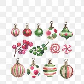 Christmas Decoration Watercolor - Christmas Ornament Watercolor Painting Christmas Decoration PNG