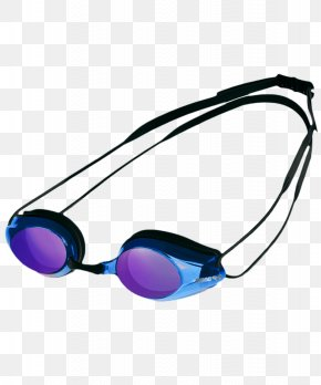Swimming - Arena Goggles Swimming White Blue PNG