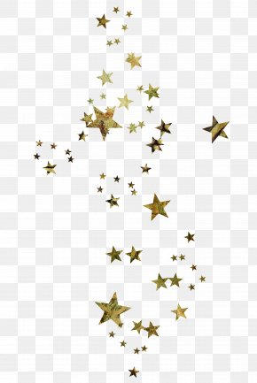 Floating Golden Five-pointed Star - Five-pointed Star Color PNG