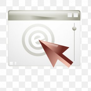 Textured Gray Page Cursor - Triangle Brand PNG