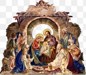 Christmas Door - Bethlehem Nativity Scene Nativity Of Jesus Christmas Manger PNG