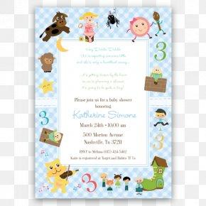 Rhyme Card - Wedding Invitation Mother Goose Nursery Rhyme Party Birthday PNG