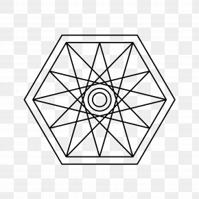 Sacred Geometry - Circle Of Fifths Chromatic Circle Star Polygon Chromatic Scale PNG