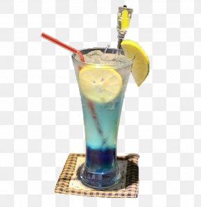 Blue Curacao Lemon Special - Cocktail Sea Breeze Mai Tai Harvey Wallbanger Rum And Coke PNG