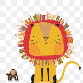 Lion Monkey Clip - Lion Tiger Illustration PNG