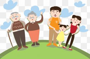 Family Family Grandma Grandfather - Child Clip Art PNG