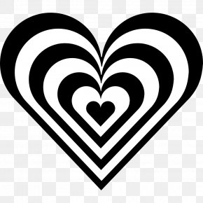 Hearts Black And White - Heart Black And White Clip Art PNG