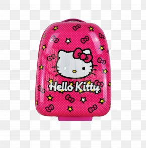 HelloKitty Luggage - Hello Kitty Trunki Backpack Baggage Suitcase PNG
