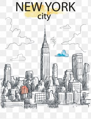 Creative Hand-painted New York City - Panzhihua Chuxiong City New York City PNG