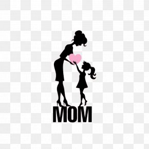 Mom And Daughter,Silhouette Figures - Mothers Day Daughter Illustration PNG