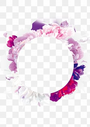 Purple Flowers Garland - Flower Purple Color Pink PNG