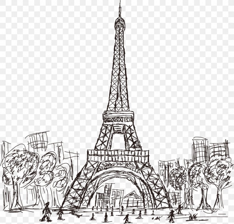 Black Eiffel Tower Png