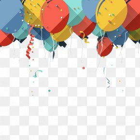 Balloon Decoration Background - Balloon Birthday Greeting Card Stock Photography PNG