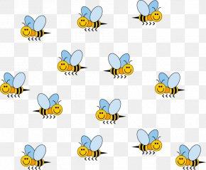 Vector Cartoon Bee - Honey Bee Euclidean Vector Cartoon PNG