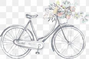 Light Gray Painted Line Art Illustration Bike - Business Card Vintage Clothing Antique Shop Zazzle PNG