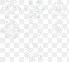 Snowflakes Transparent Image - Line Symmetry Black And White Point Pattern PNG