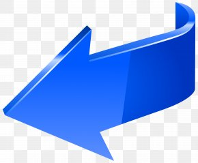 Blue Arrow Left Transparent Clip Art Image - Arrow Clip Art PNG
