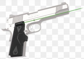 Laser Gun - Crimson Trace Laser Sight M1911 Pistol Firearm PNG