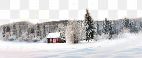Snow House - Accommodation Log Cabin Winter Mountain Cabin Wallpaper PNG