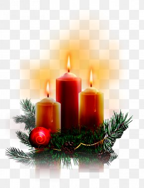 Candles - Christmas Tree Candle Clip Art PNG